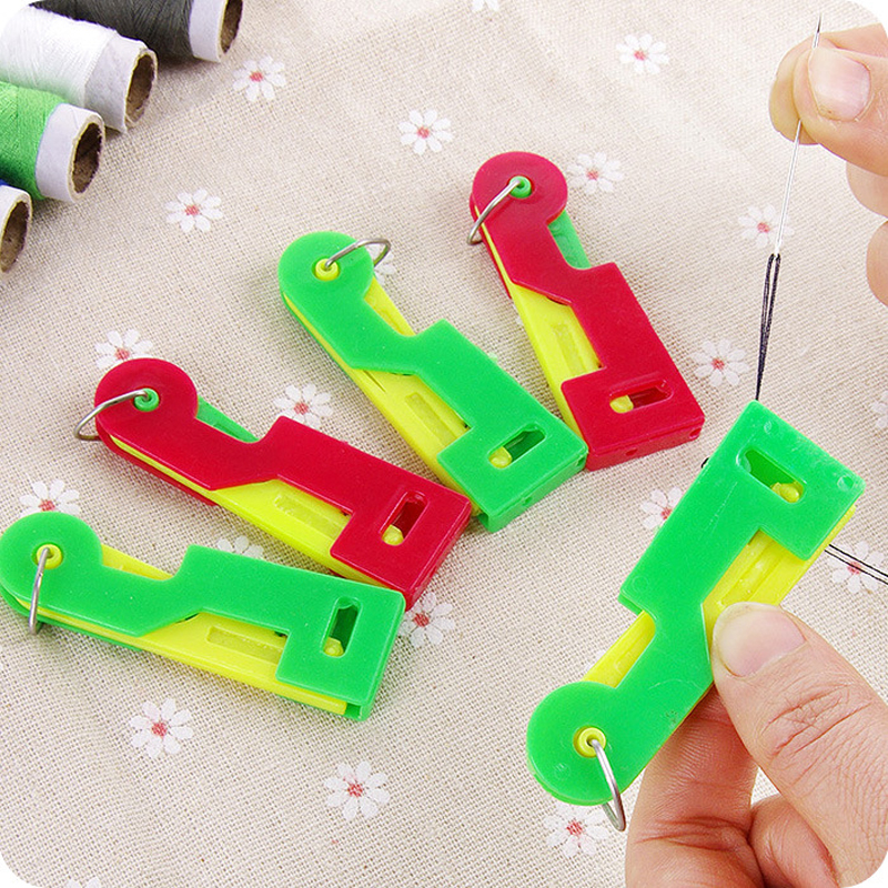 3Pc Elderly Use Automatic Easy Sewing Needle Device Threader Thread Guide Tools