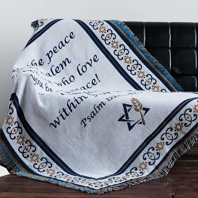 Generous Cilected Pray For The Peace Thick Throw Blankets Decorative Cotton Sofa Throws Winter Warm Chair Cover Couch Blanket 160x220cm Relieving Heat And Thirst. Home Textile