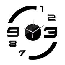 2016 Nuevo Reloj de Cuarzo Reloj de Pared de Acrílico Espejo Relojes de Bricolaje Reloj De Comparación Horloge Murale Sala de estar 3d Casa Moderna pegatinas