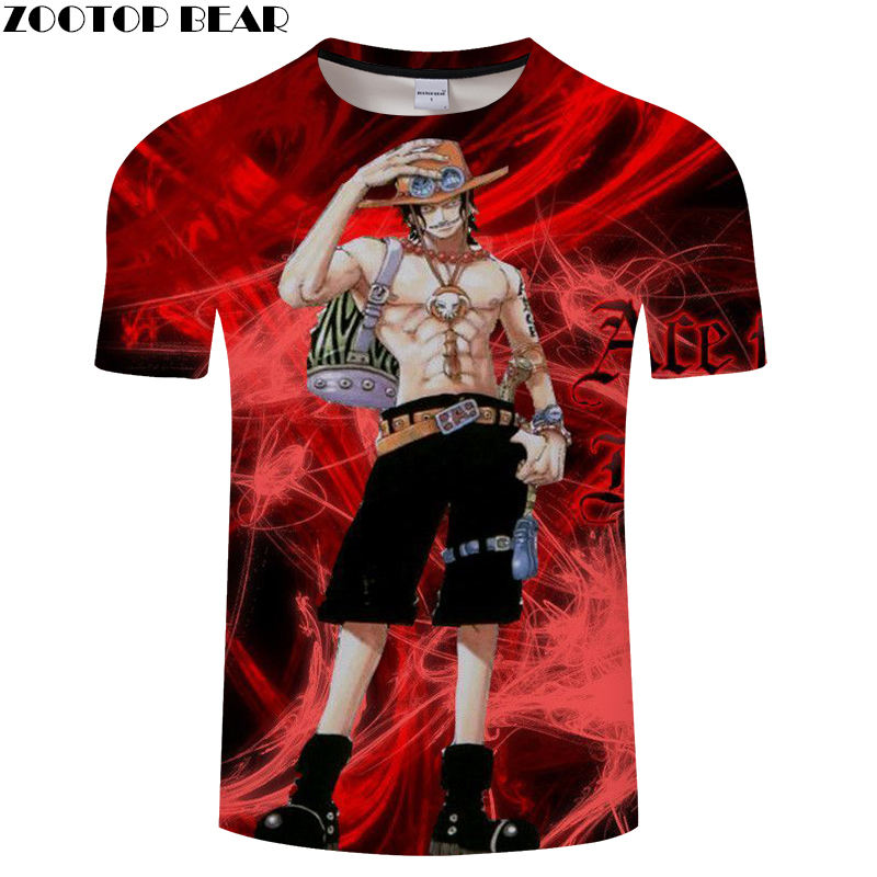 Hero Men Shirts Short Travel Casual Shirt Summer Red Anime One Piece Brand 2019 Fashion Breathable 3D Print t-shirt ZOOTOP BEAR