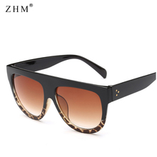 Woman oculos Flat Top Big Oversized Mirror Sun Glasses Cat Eye Sunglasses Women Designer Brand Luxury Eyewear gafas de sol недорго, оригинальная цена