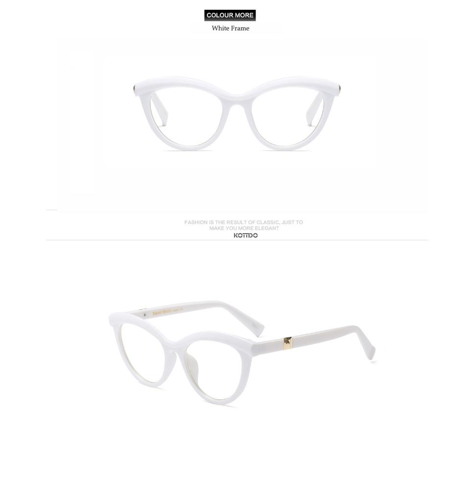 Mode Frauen Rote Katze Augenglasrahmen Markendesigner Weiblichen ...