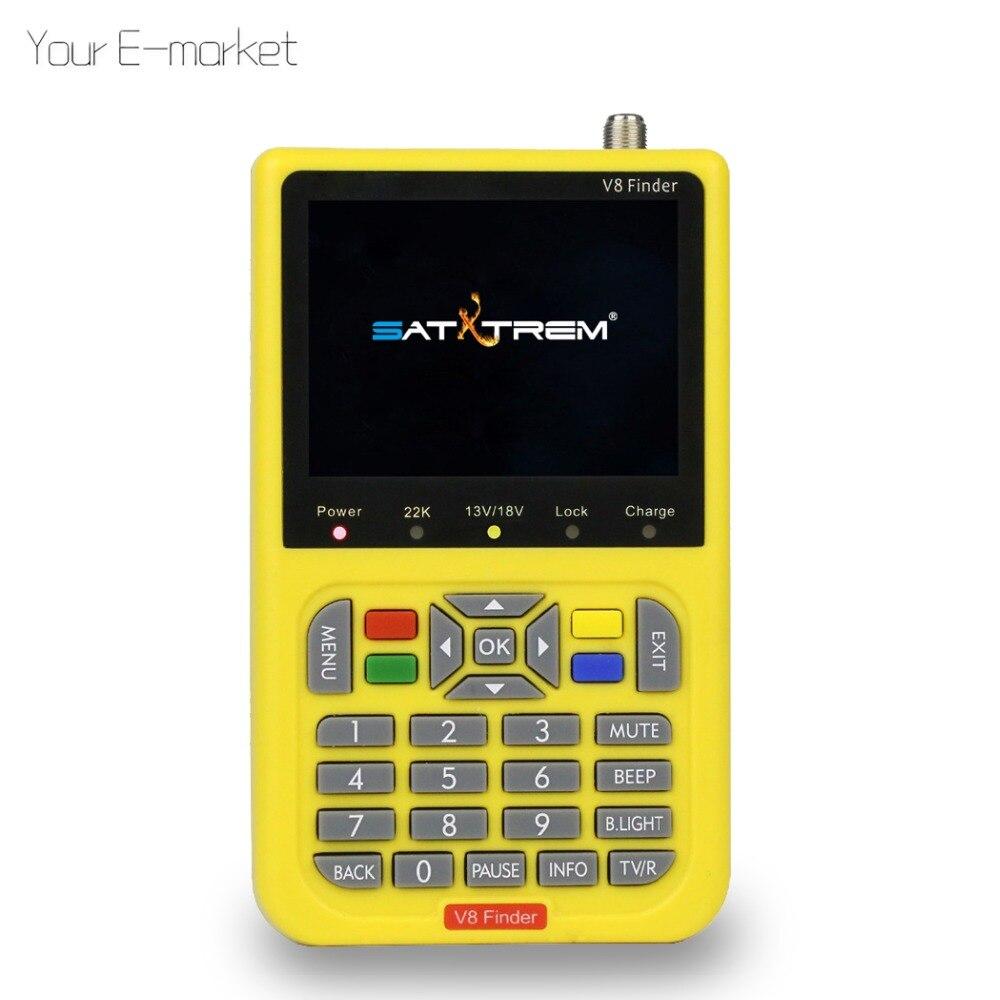 Satxtrem DVB S2 V8 Finder HD Digital Satellite Finder Meter With 3 5 inch LCD Display