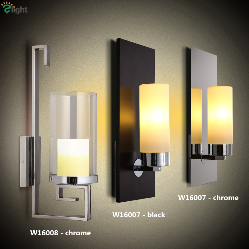 Modern Minimalism Plated Chrome Led Wall Lamp Bedroom Lustre Frosted Glass / Marble Lampshades Wall Lamp chrome plated modern handle c c 192mm l 218mm h 23mm drawers cabinets