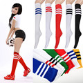 2016 New Fashion 1 Pair Two style wellies socks sale thickness long socks for women's winter boots girls striped over knee socks