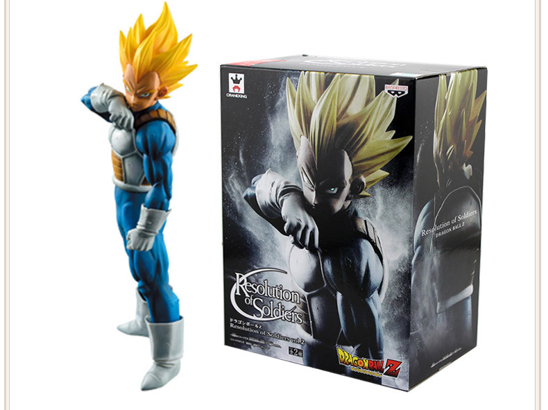 18cm One piece Dragon Ball Z Vegeta Action Figure PVC Collection Model toys brinquedos for christmas gift with retail box(China)