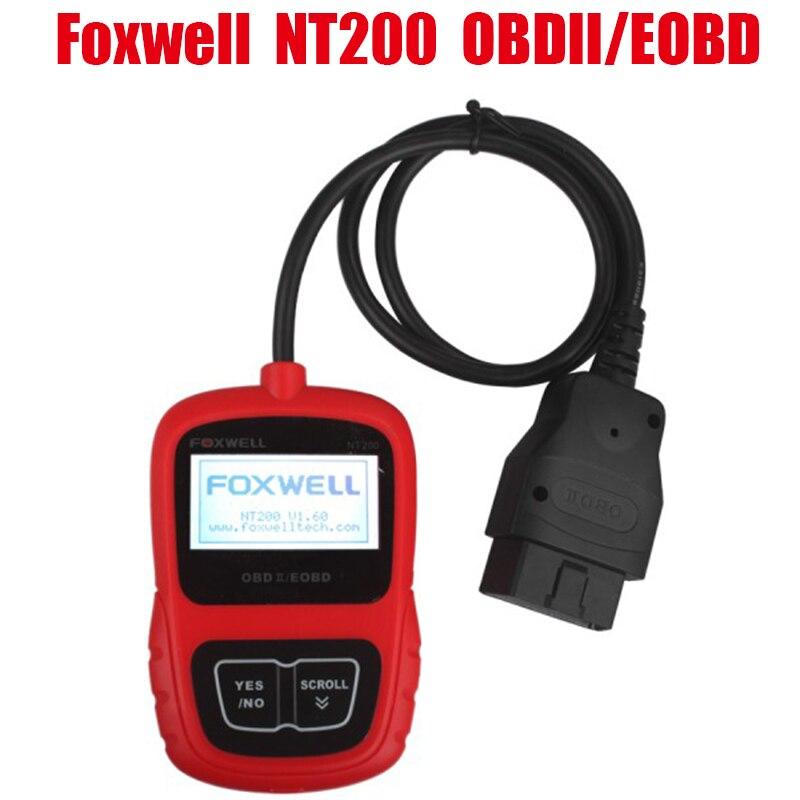 Цена за Горячие Foxwell NT200 МОЖЕТ OBDII/EOBD Авто Code Reader сканирования Foxwell NT 200 OBD2 автомобиля диагностический инструмент OBD 2 obd-ii сканер автомобиля