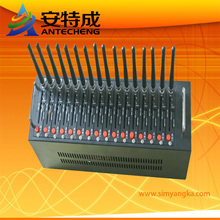 Hot selling 16 port modem pool with dual band 900 1800mhz mc52i for bulk sms sending