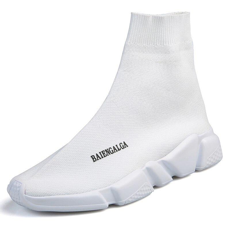Femmes Chaussures 2018 Mode Chaussettes Chaussures Femme Blanc Noir Chaussures Vulcanisées Unisexe Baskets Femmes Chaussures de sport Plus Chaussure Femme