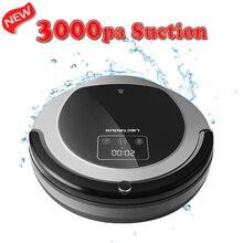 (FBA) Robot Aspirador LIECTROUX B6009, Mapa de Navegación, la Memoria Inteligente, de Aspiración 3000 pa, Dual Lámpara UV, Wet Dry Fregona, Robot aspirador