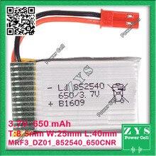 A Embalagem de segurança, Conector de 2 pinos 3.7 V bateria de Polímero de lítio 852540 650 mah para UAS Zona mini drone Drone UAV fpv 8.5x25x40mm
