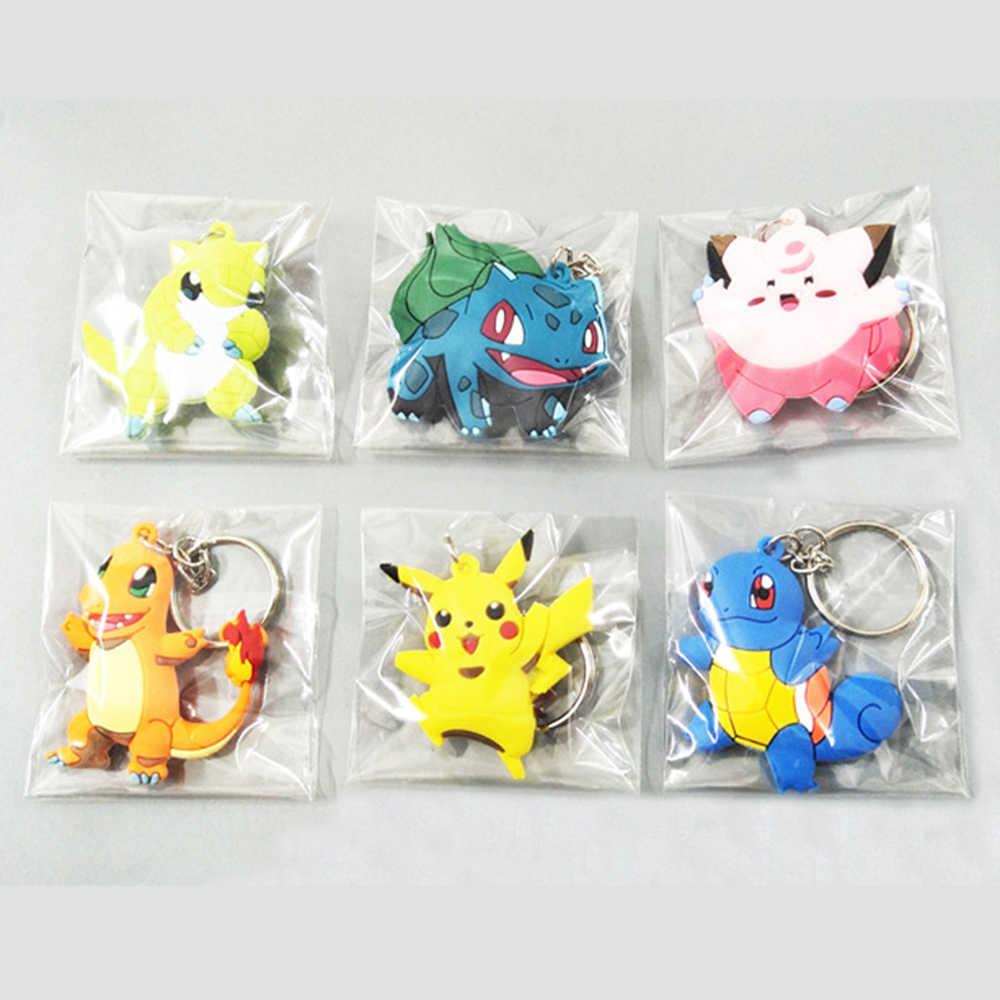 3D Anime pokemon go breloczek Pikachu brelok kieszonkowy potwory brelok wisiorek Mini Charmander Squirtle Eevee Vulpix figurki