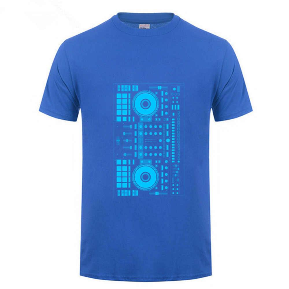 2018 llegadas de moda divertida música DJ diseño azul camiseta personalizar impreso Hip Hop tapas donald trump espacio
