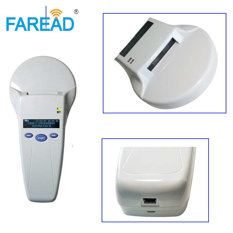 High Quality Low Frequency Reader 125/134.2khz FDX-B Animal ID Tag Reader ISO11784/85 Handheld Pet Scanner For Microchipped Pets