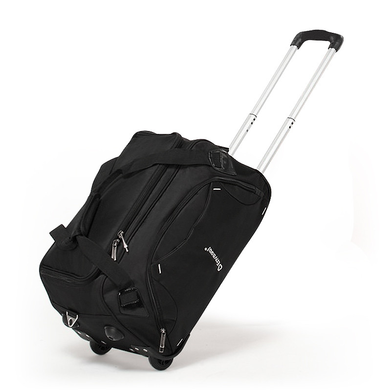 Commercial trolley bag male large capacity luggage bag female handbag oxford fabric travel bag,20 24inches oxford fabric trolley oxford borboniqua oxford