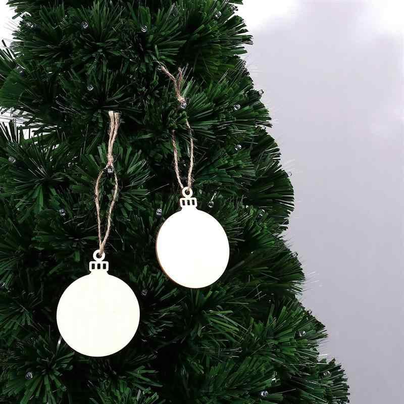 10pcs ไม้รอบแขวนจี้ DIY ภาพวาดไม้เครื่องประดับคริสต์มาส Blank ตกแต่งแท็กของขวัญ Xmas Tree A3
