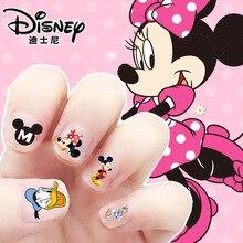 Mickey Minnie Mouse maquillaje de uñas pegatinas juguete Disney princesa niñas etiqueta juguetes para novia de regalo de los niños