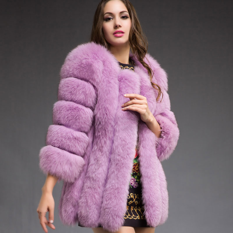 Aliexpress.com : Buy Real Fur Jacket Woman Genuine Fox Fur Coat ...