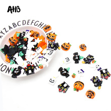 AHB Resin Pumpkin Ghosts Patches For Bows Handmade Halloween Party Decor Materials DIY Phone Case Accessories