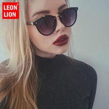 LeonLion 2018 Vintage Rivets Women Sunglasses Candy Color Luxury UV400 Oculos De