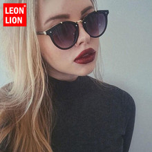 LeonLion 2018 Vintage Rivets Women Sunglasses Candy Color Lu