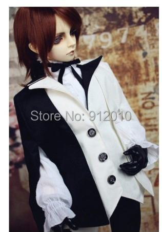 Limited Azrael Black White Match Outfit Suit for BJD Doll SD10 SD13 SD17 IP EID SOOM