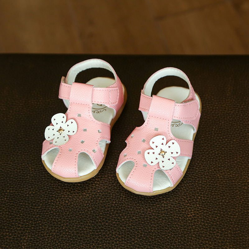 Girls Princess Shoes 2017 Summer New Fashion Flowers Baby Girls Breathable Sandals Kids Soft Shoes Girls Beach Sandals EU 21-25