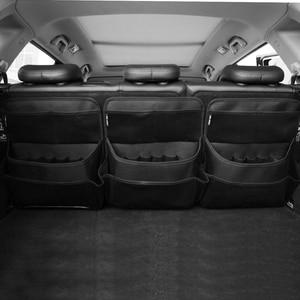 Image 5 - New car organizer Car trunk storage bag net bag thickening storage box car seat organizer waterproof material free shipping