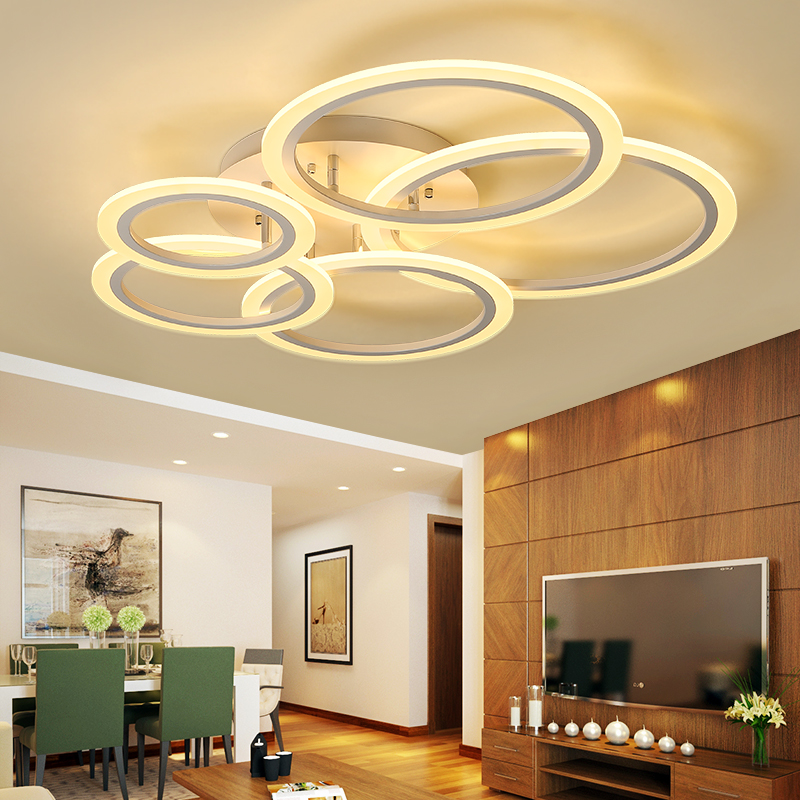 Lights & Lighting New Led Ceiling Light For Living Room Dining Bedroom Dimmable With Remote White Coffee Frame Lighting Fixture Lamparas De Techo Making Things Convenient For Customers Ceiling Lights & Fans