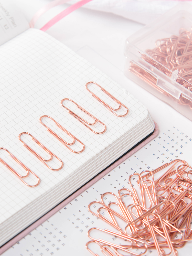 Metal Paper Clip Metal Cute Office Supplies Rose Gold Stationery Rose Gold Paper Clips Office Supplies Rose Gold Office Supplies