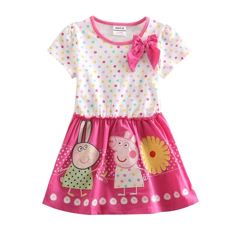 novatx kinderen meisje katoenen jurken met applique dieren zomer mode - Kinderkleding - Foto 1