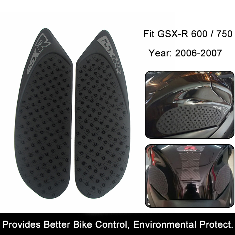 For Suzuki GSX-R GSXR600/750 2006 2007 Motorcycle Anti slip Tank Pad 3M Side Gas Knee Grip Traction Pads Protector Stickers