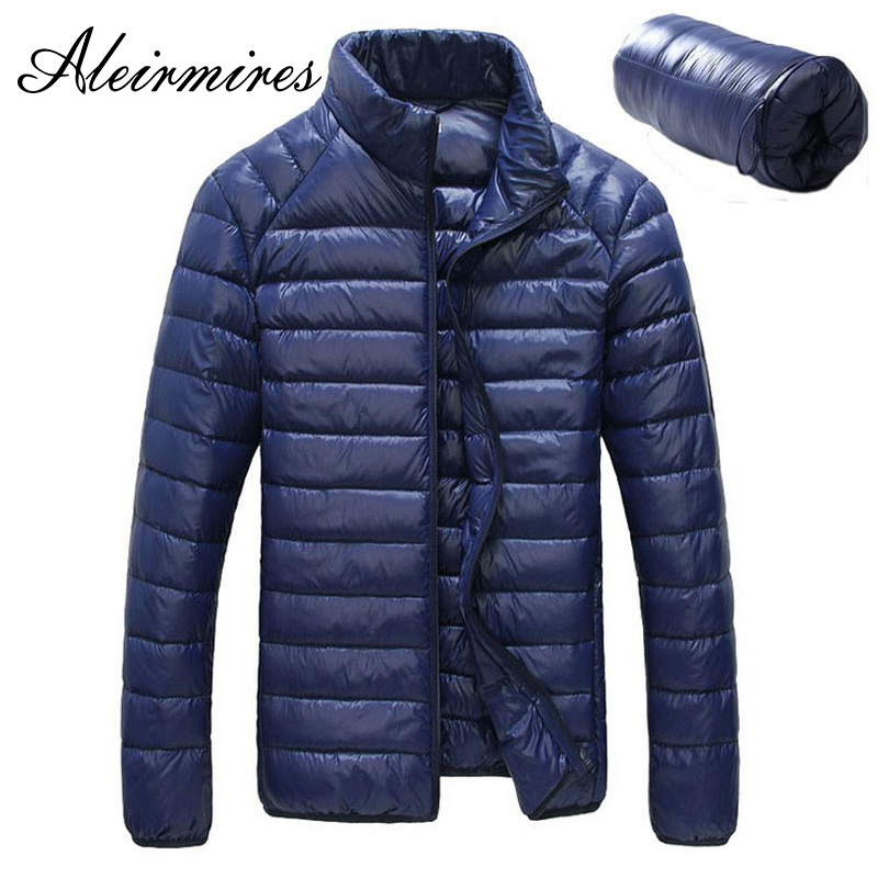 New Men Winter Jacket Ultra Light White Duck   Down   Jackets 2018 Casual Portable Winter   Coat   for Men Plus Size 4XL   Down   Parkas