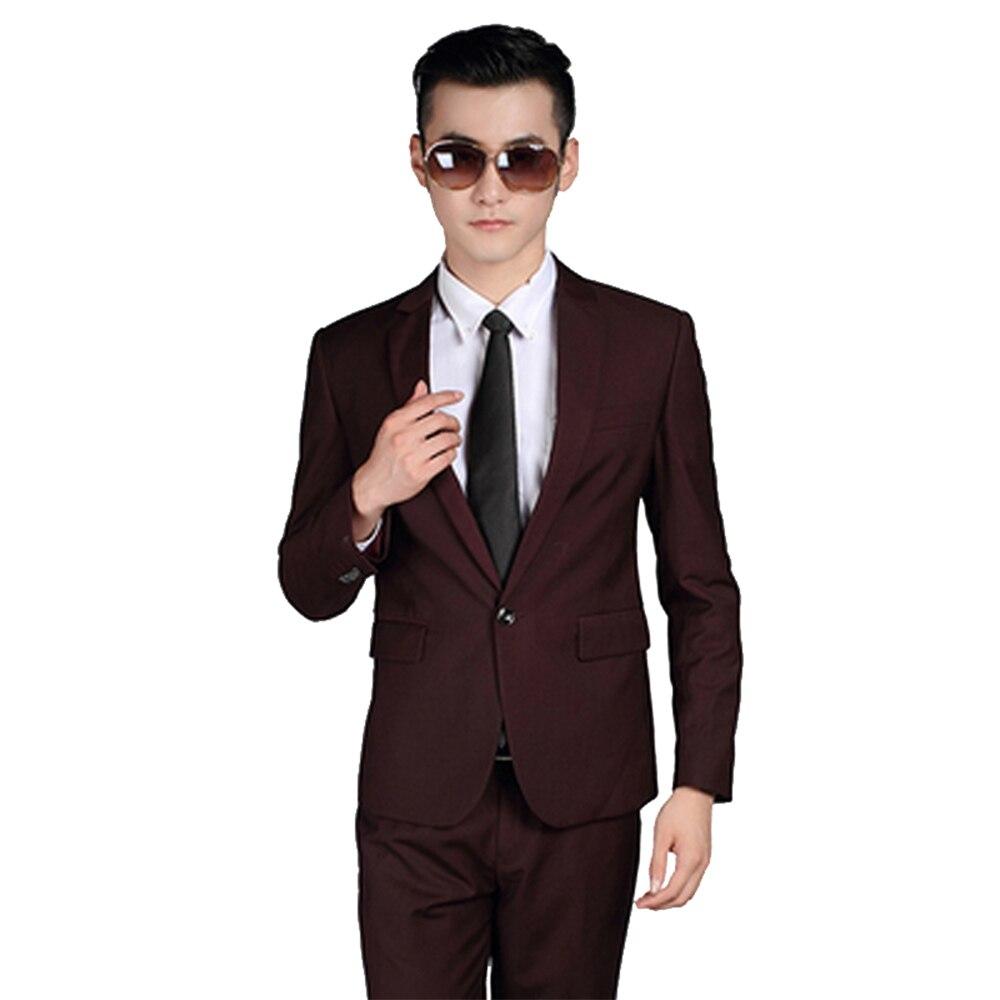 2016 Design Men Suits Jacket Pants Tie Groom Wear