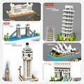 SC: Gran arquitecturas (bloques de Construcción) 1085-90 Bloques de Construcción de Diamante Micro Nano Figura de Acción boy & regalos de la muchacha