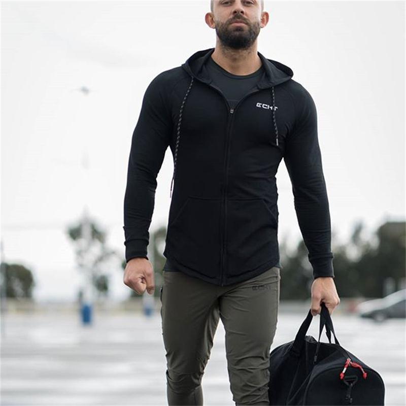 Plus Size Men Hoodies Jacket Newest Spring Drawstring Zipper Hooded Sweatshirt Top Male Long Sleeve Pocket Pullover Hoodie Coat
