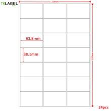 "GL 28 (50 גיליונות 1050 תוויות) A4 תוויות כתובת 63.5 מ""מ * 38.1 מ""מ על A4 דביק הדפסת תוויות לייזר/הזרקת דיו"