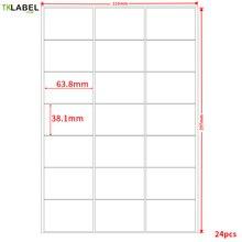 Étiquettes dadresse A4, GL 28 ( 50 feuilles 1050 étiquettes), 63.5mm x 38.1mm, sur A4, pour imprimante laser/jet dencre
