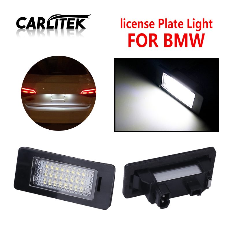 CARLitek 12V White Car Led License Plate Number Light Lamp For BMW E90 E92 E93 M3 E60 E61 E39 E39 M5 E82 E70 X5 E71 E88