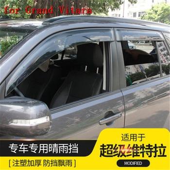 Araba aksesuarları Araba Pencere Yağmur Kalkan Barınaklar Kapak ABS Güneşlik Pencere Siperliği Suzuki Grand Vitara 2007-2015 için Araba şekillendirici