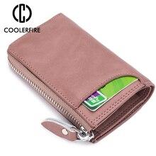 Fashion Elegant Women Short Leather Wallet Portable Solid Color Purse Hot Female Change Lady Clutch PJ041