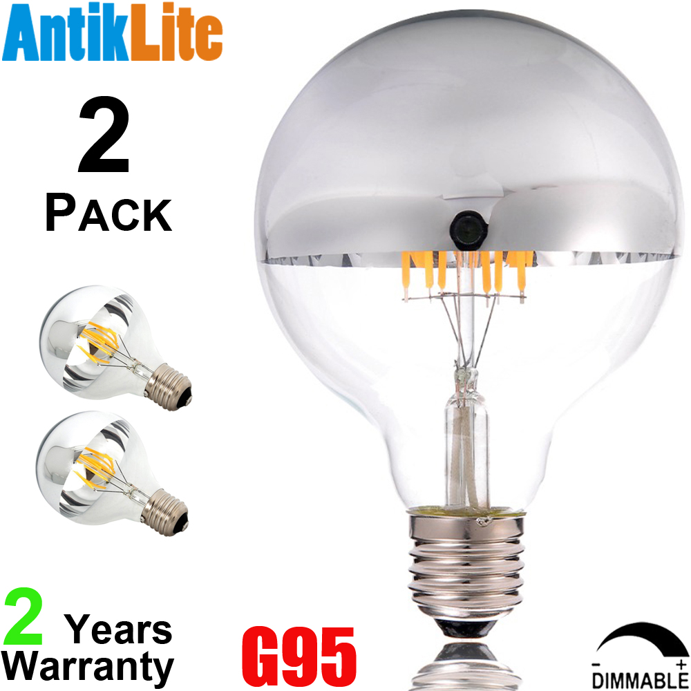 G95 E27 25/40/60/75 Watt/W 25W 40W 60W 75W Incandescent Equal G30 E26 Silver Cap/Chrome Tip LED Filament Bulb 4 6 8/W 4W 6W 8W g95 e27 25 40 60 75 watt w 25w 40w 60w 75w incandescent equal g30 e26 silver cap chrome tip led filament bulb 4 6 8 w 4w 6w 8w