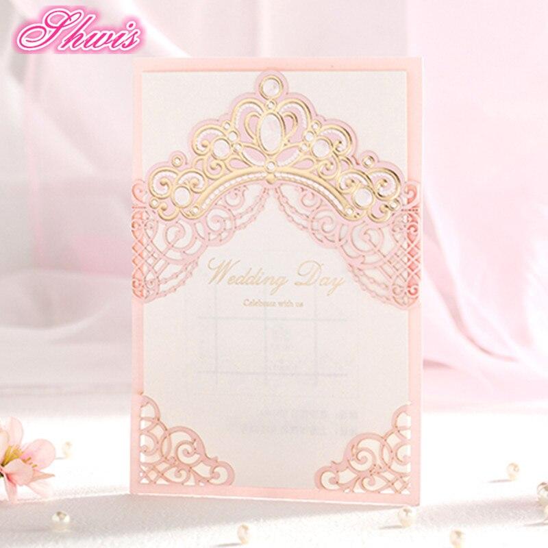 1148 10 Ensembles Invitations De Mariage Carte Dinvitation De Mariage Rose Cartes Dinvitation Découpées Au Laser Avec Insert Papier Enveloppe De