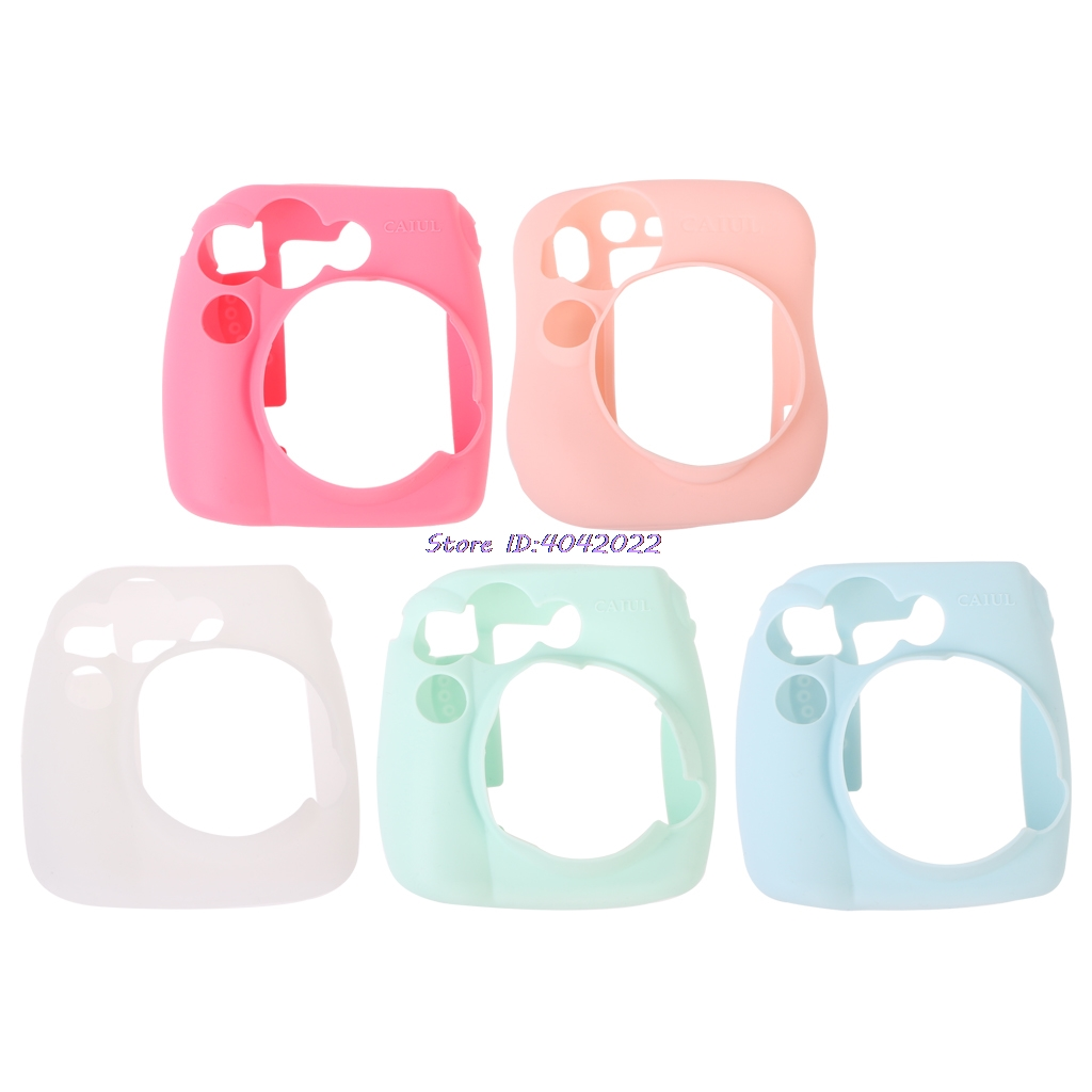 Soft Silicone Camera Bag Jelly Case Skin Cover For Fujifilm Instax Mini 8/8+/9|Camera/Video Bags| |  - title=