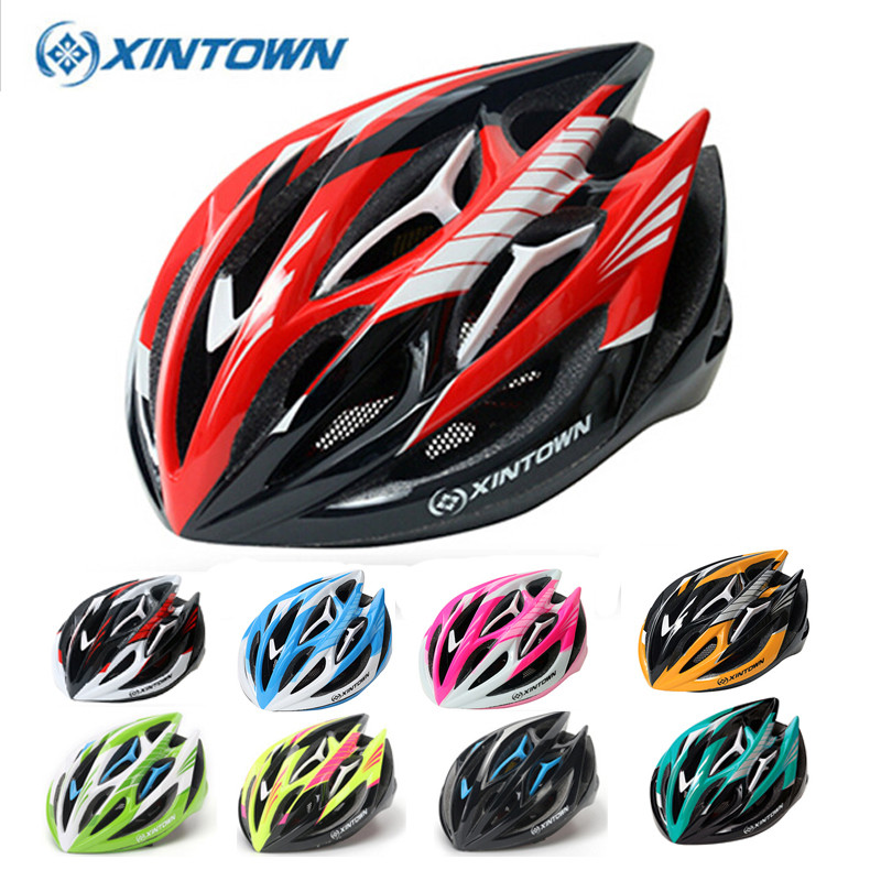 Ultralight XINTOWN Integrally-molded Cycling Helmet For MTB Road Bike Casco Ciclismo Safe Cap Men Women Bicycle Helmet 14 Colors rockbros bicycle helmet ce certification cycling helmet integrally molded bike helmet casco ciclismo 56 62 cm
