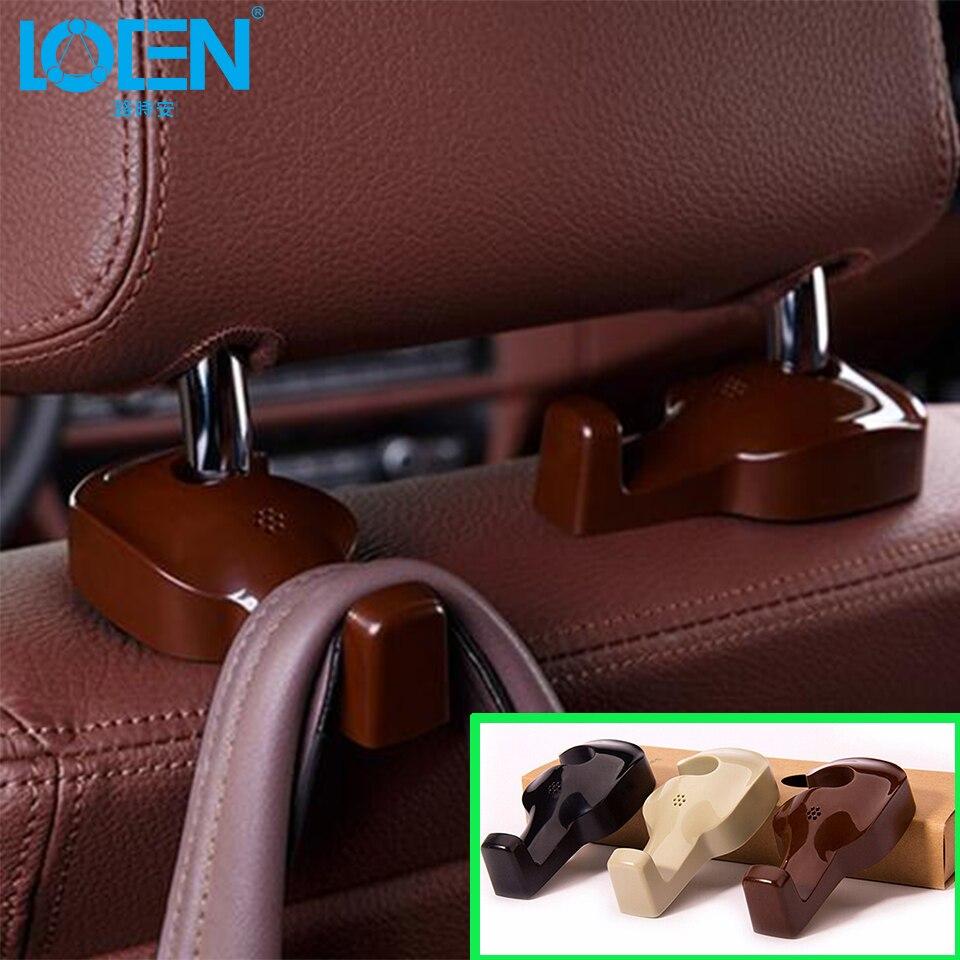 2pcs car seat front back headrest hooks truck coat purse bag hanger organizer