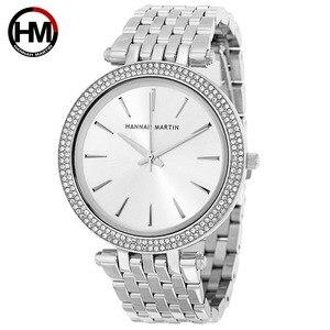 Image 4 - Kadın Rhinestones Saatler Top Marka Lüks Gül Altın Elmas Iş Moda Kuvars Su Geçirmez Saatı Relogio Feminino