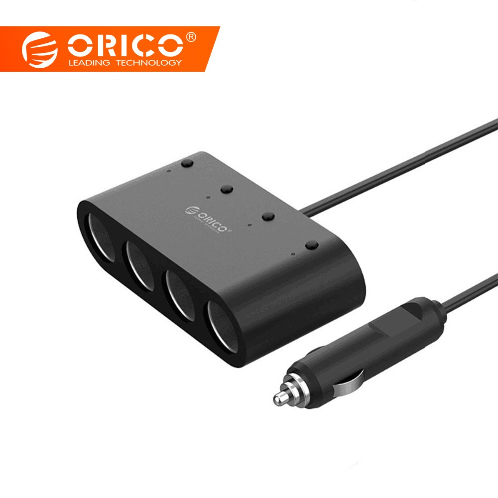 ORICO Puerto USB 2 3 3.1A cigarrillo encendedor del coche adaptador de mechero DC de 12 ~ 24 V para iPad Smartphone DVR GPS accesorios del interior del coche