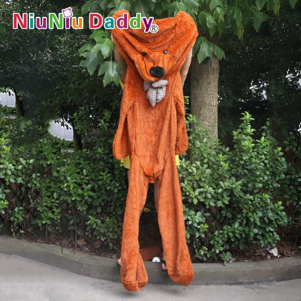 Niuniudaddy Teddy bear skin Plush toy dolls bearskin Semi-finished bear Toys 300cm