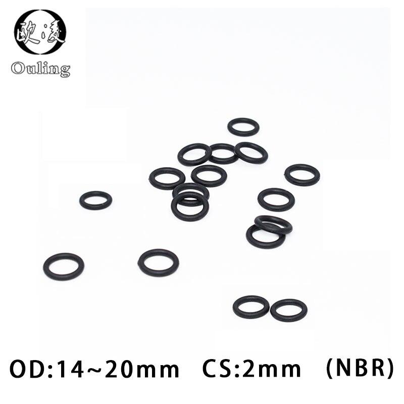 14.5 x 3mm Viton 75 O/'Ring 100x